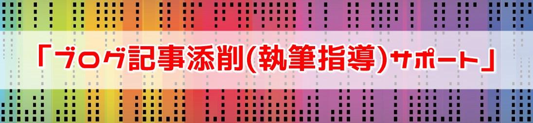 No.10「ブログ記事添削(執筆指導)サポート」