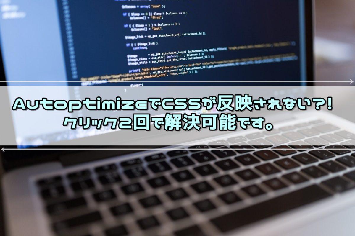 AutoptimizeでCSSが反映されない?!クリック2回で解決可能です。