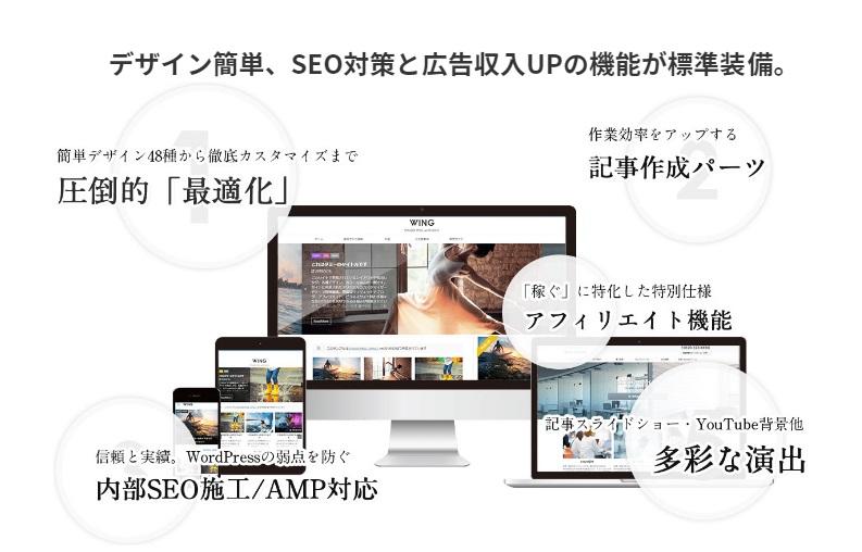 WordPressテーマ『AFFINGER5』の特徴は、稼げる機能・SEO・デザインの戦略性