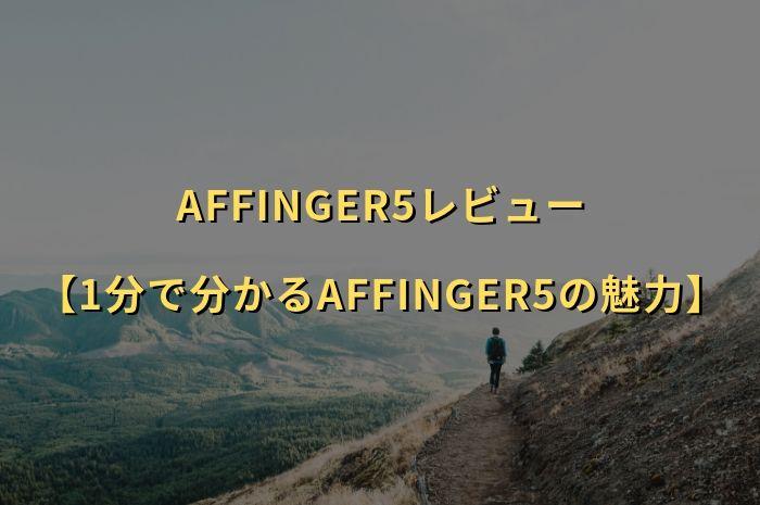 AFFINGER5(アフィンガー5)レビュー【1分で分かるAFFINGER5の魅力】