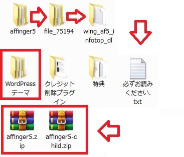 AFFINGER5の解凍手順