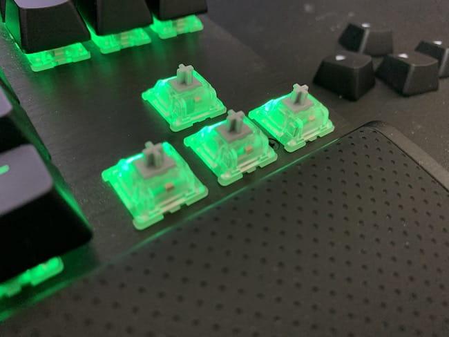 CORSAIR K65 rapidfireの銀軸を使って感じたデメリット ①:銀軸特有の打鍵音