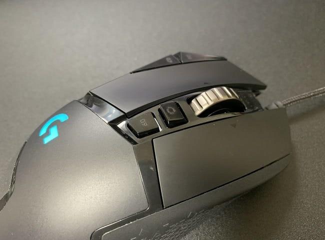G502 HEROのメリット⑥:スクロールホイールを2タイプに切り替え可能