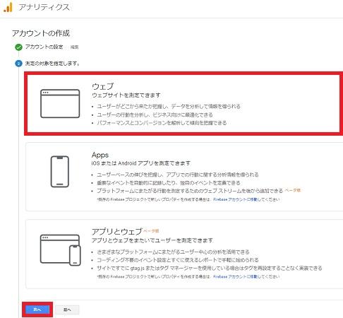 Googleアナリティクスの測定対象