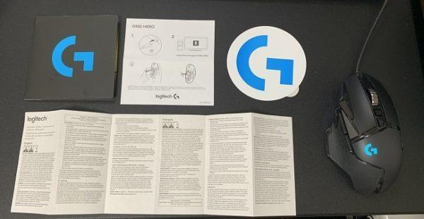 Logicool G502 HEROの梱包内容