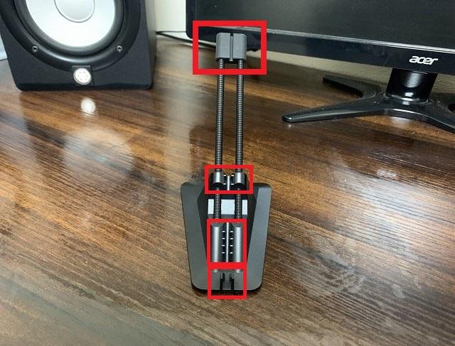 Razer MouseBungee V2の背面